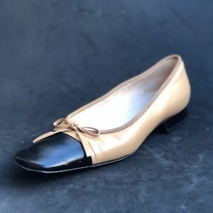 CHANEL vintage square toe shoes